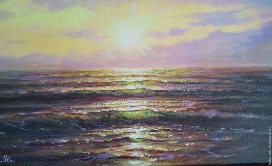 Пейзаж ручной работы. Ярмарка Мастеров - ручная работа. Купить Море. Handmade. Комбинированный, картина на заказ, картина для дома