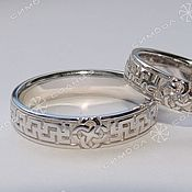 Русский стиль handmade. Livemaster - original item Rings of well-Being with a wedding Planner. Handmade.