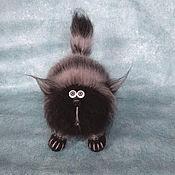 Мягкие игрушки ручной работы. Ярмарка Мастеров - ручная работа Кот Пушистый Растрепа мягкая игрушка крючком кот вязаный из мохера. Handmade.