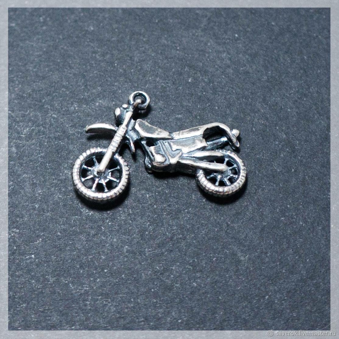 Подвес Мотоцикл №2 серебро 925 проба с чернением, Фурнитура, Ивано-Франковск,  Фото №1