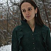 """Одежда ручной работы. Ярмарка Мастеров - ручная работа Валяное платье """"Хвойный лес"""". Handmade."""