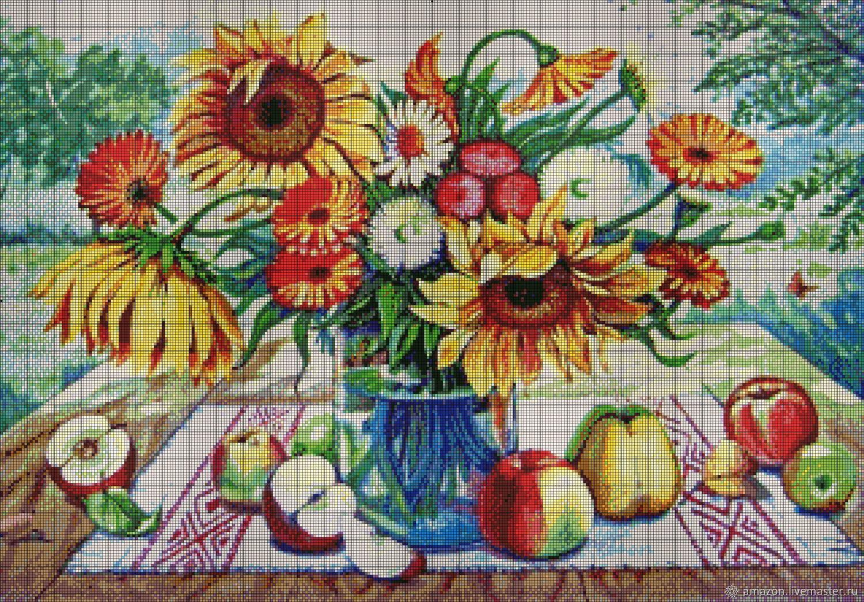 Set for beadwork ' SUMMER BOUQUET ', Creator\'s Kit, Ufa,  Фото №1