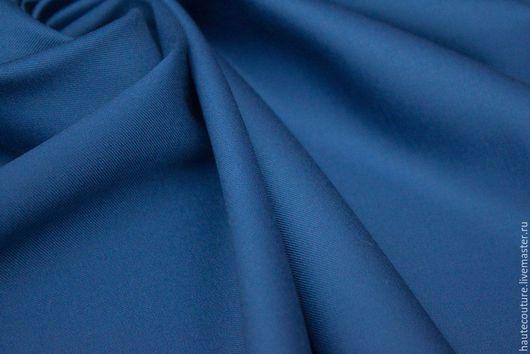 Шитье ручной работы. Ярмарка Мастеров - ручная работа. Купить Шерсть костюмно-плательная!. Handmade. Синий, ткани для шитья
