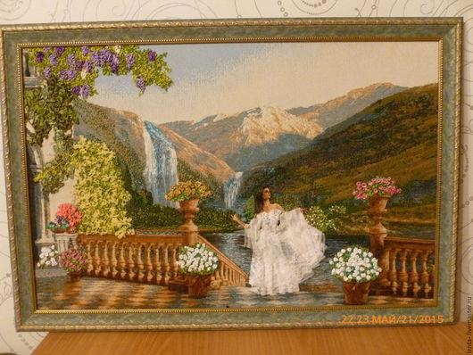 Пейзаж ручной работы. Ярмарка Мастеров - ручная работа. Купить Поэзия гор. Невеста. Handmade. Комбинированный, картина, багет