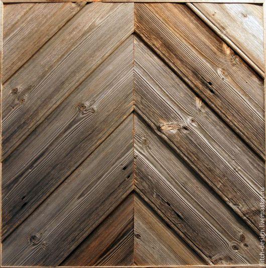 Абстракция ручной работы. Ярмарка Мастеров - ручная работа. Купить Панно из старой древесины RN05. Handmade. Темно-серый