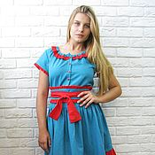 Одежда handmade. Livemaster - original item Dress summer Berry. Handmade.