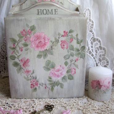 For home and interior handmade. Livemaster - original item The housekeeper Rose garden Shabby(Painting). Handmade.