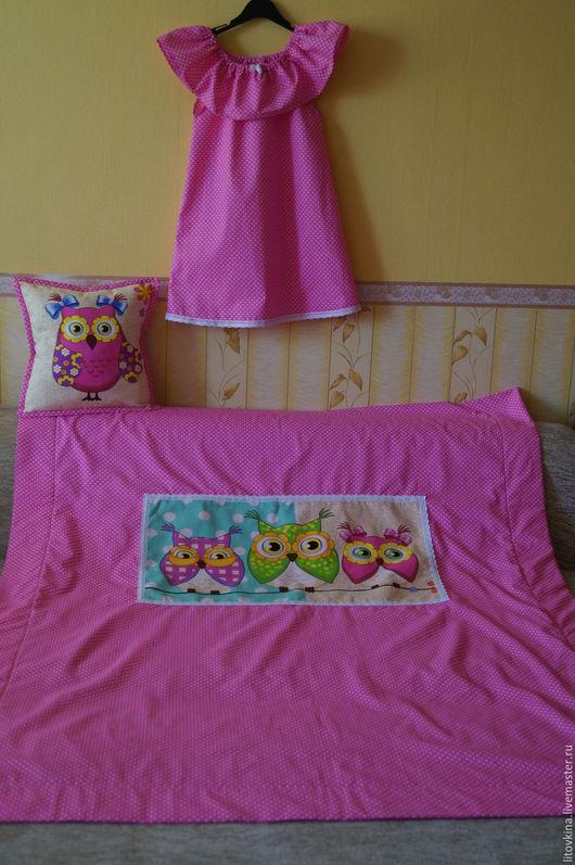 Пледы и одеяла ручной работы. Ярмарка Мастеров - ручная работа. Купить Детское одеяло- покрывало на флисе. Handmade. Розовый, кружево