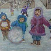 Картины и панно ручной работы. Ярмарка Мастеров - ручная работа Зимние радости.. Handmade.