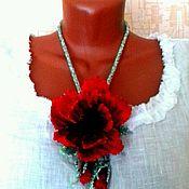Украшения handmade. Livemaster - original item Necklace poppy bead. Handmade.