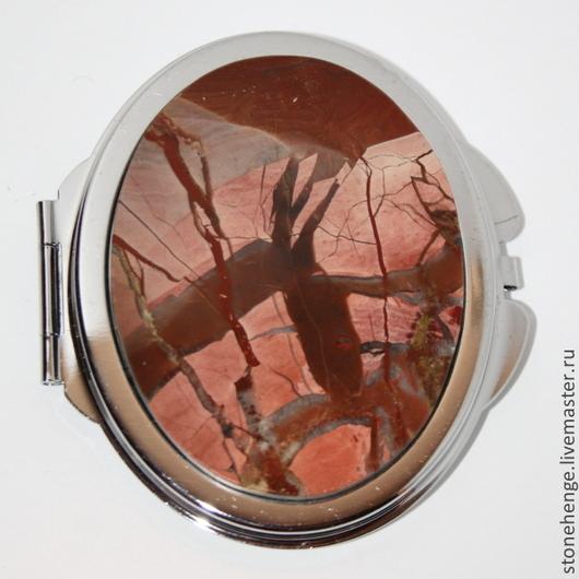 Зеркала ручной работы. Ярмарка Мастеров - ручная работа. Купить Зеркало с НАТУРАЛЬНЫМ КАМНЕМ яшма. Handmade. В подарок, из яшмы