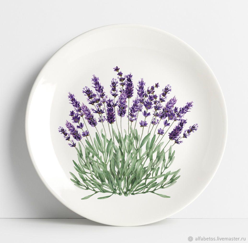 """Тарелки ручной работы. Ярмарка Мастеров - ручная работа. Купить Тарелка """"Лаванда"""". Handmade. Керамика, дизайн, подарок, тарелка, чашка"""