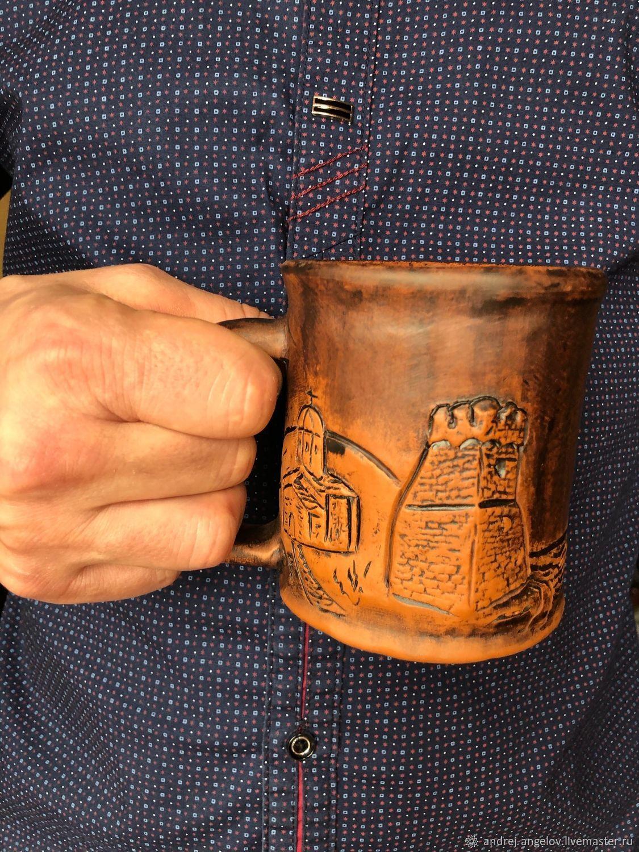 Глиняная авторская кружка ручной работы, Кружки, Краснодар,  Фото №1