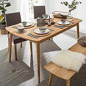 Столы ручной работы. Ярмарка Мастеров - ручная работа Стол обеденный Сканди из массива дуба, бейц-масло. Handmade.