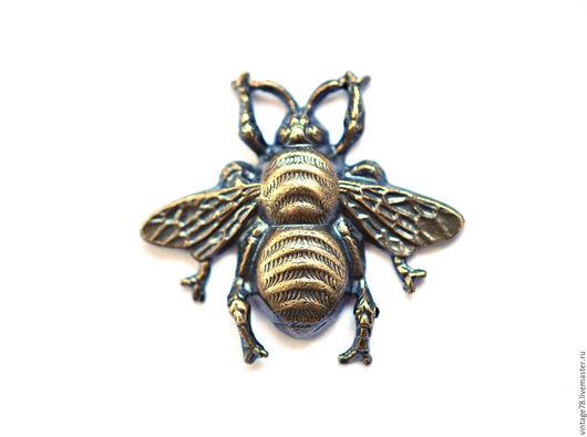Для украшений ручной работы. Ярмарка Мастеров - ручная работа. Купить Винтажная фурнитура для бижутерии,латунный штамп пчела(литье). Handmade.