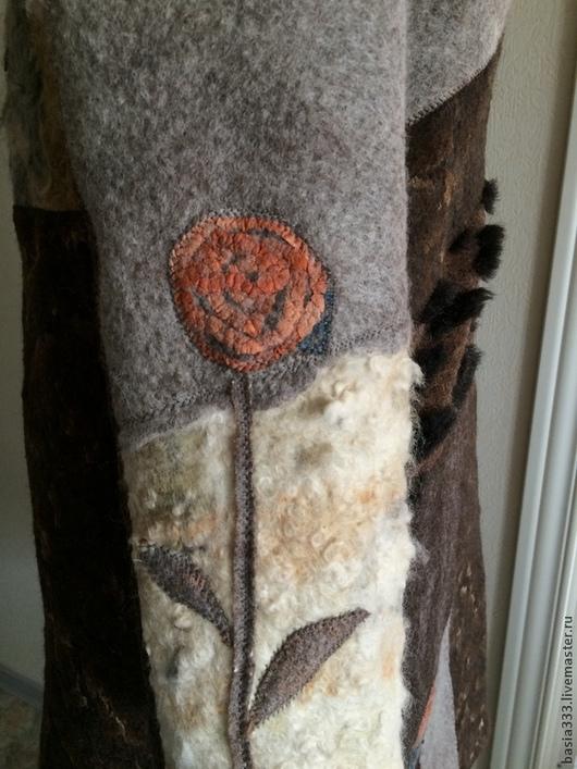 Верхняя одежда ручной работы. Ярмарка Мастеров - ручная работа. Купить Пальто Шуршание сухой травы. Handmade. Коричневый, флис
