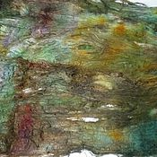 "Материалы для творчества ручной работы. Ярмарка Мастеров - ручная работа Multicolor hand-dyed silk laps ""Jungle"" 10 грамм. Handmade."