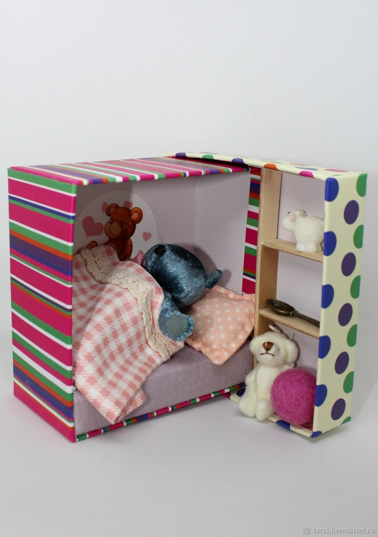 Игровая коробочка с плюшевым мишкой, Кукольные домики, Кисловодск,  Фото №1