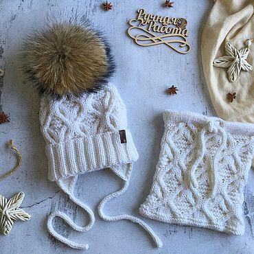 Одежда ручной работы. Ярмарка Мастеров - ручная работа Шапки: комплект детский (шапка и снуд). Handmade.
