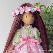 Куклы и игрушки ручной работы. Ярмарка Мастеров - ручная работа Дэйзи. Текстильная интерьерная кукла брюнетка с длинными волосами. Handmade.