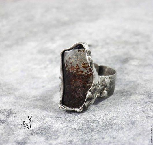 """Кольца ручной работы. Ярмарка Мастеров - ручная работа. Купить """"Лед и пламя"""" - кольцо с фантомным кварцем. Handmade. Серебряный"""