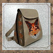 Сумки и аксессуары handmade. Livemaster - original item Backpack SP Fox urban. Handmade.