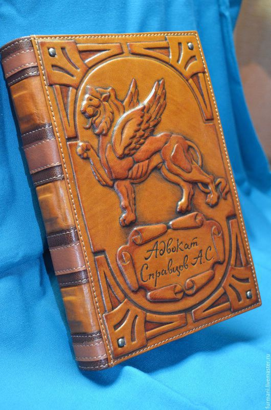 """Ежедневники ручной работы. Ярмарка Мастеров - ручная работа. Купить Ежедневник """"АДВОКАТ"""". Handmade. Рыжий, ежедневник кожаный, блокнот в подарок"""