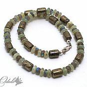 Chokers handmade. Livemaster - original item Chalker: Choker with pyrite, labradorite and jade. Handmade.