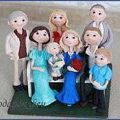 """Куклы и игрушки ручной работы. Ярмарка Мастеров - ручная работа Фигурка """"Семья"""". Handmade."""