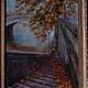 Пейзаж ручной работы. Ярмарка Мастеров - ручная работа. Купить Осенний пейзаж, работа для примера. Handmade. Осень, лестница, пейзаж
