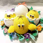 Подарки к праздникам ручной работы. Ярмарка Мастеров - ручная работа Цыплята в гнезде. Handmade.