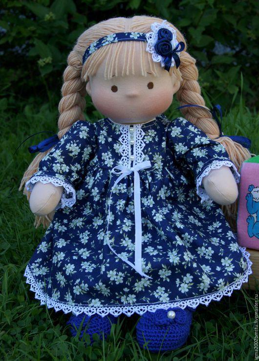 Вальдорфская игрушка ручной работы. Ярмарка Мастеров - ручная работа. Купить Марьюшка- куколка по вальдорфским мотивам, 39 см. Handmade.