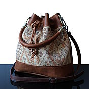 Сумки и аксессуары handmade. Livemaster - original item Ethnique Big leather bag-bag redhead. Handmade.