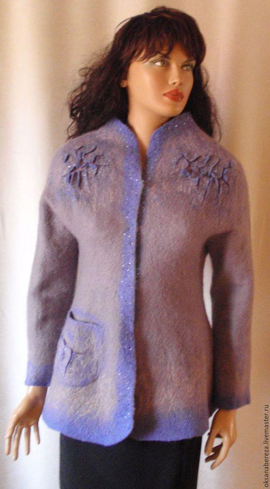"""Пиджаки, жакеты ручной работы. Ярмарка Мастеров - ручная работа. Купить Жакет """" Серебро"""". Handmade. Бордовый, жакет, шерсть"""