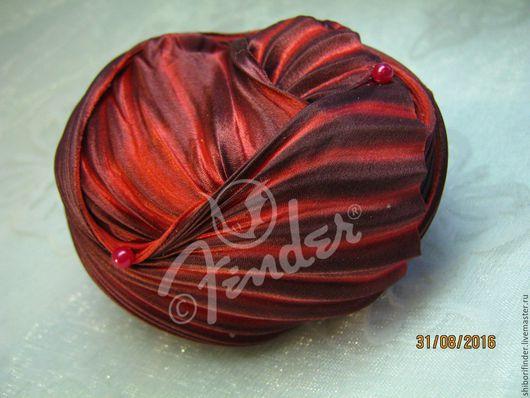 Для украшений ручной работы. Ярмарка Мастеров - ручная работа. Купить Ленты Шибори Silk Ribbons Shibori №136 Вишня в шоколаде. Handmade.
