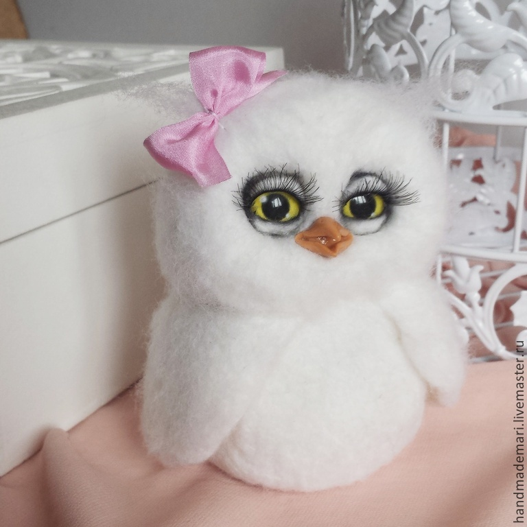 white owl Hedwig with bow in stock, Stuffed Toys, Moscow,  Фото №1