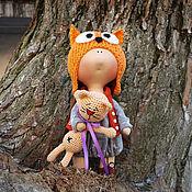 Куклы и игрушки ручной работы. Ярмарка Мастеров - ручная работа Интерьерная кукла Лисенок. Handmade.