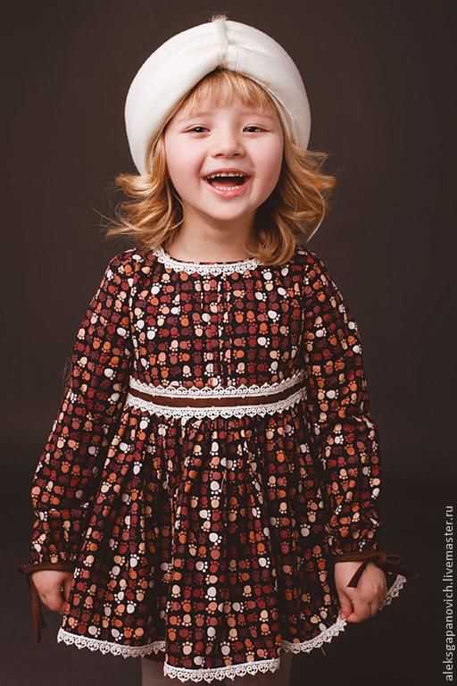 Одежда для девочек, ручной работы. Ярмарка Мастеров - ручная работа. Купить Туника с лапками. Handmade. Туника, туника для девочки