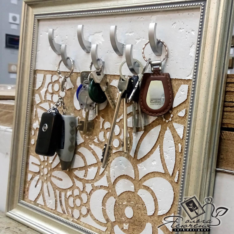 Cork Key holder  «Lace», Housekeeper, Omsk,  Фото №1