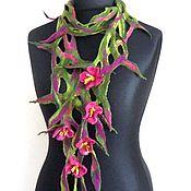 Scarves handmade. Livemaster - original item Art scarf decoration on the neck. Handmade.