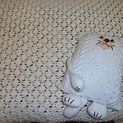 """Для дома и интерьера ручной работы. Ярмарка Мастеров - ручная работа плед и подушка """"В царстве кота Матвея"""". Handmade."""