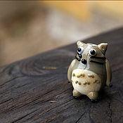 Украшения ручной работы. Ярмарка Мастеров - ручная работа Тоторо, бусина лэмпворк ручной работы. Handmade.