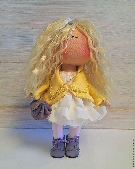 Коллекционные куклы ручной работы. Ярмарка Мастеров - ручная работа. Купить Полина. Handmade. Лимонный, дочка, кукла ручной работы