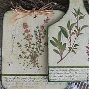 Для дома и интерьера ручной работы. Ярмарка Мастеров - ручная работа доски разделочные кухонные травы флора листья. Handmade.