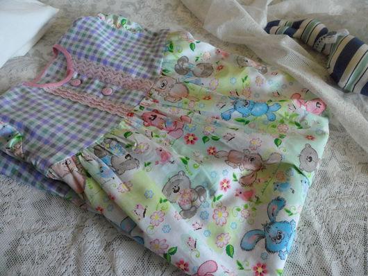 """Одежда для девочек, ручной работы. Ярмарка Мастеров - ручная работа. Купить Ночная рубашка для девочки """"Трям, здравствуйте!"""". Handmade. Мятный"""