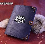 Канцелярские товары handmade. Livemaster - original item The Witcher leather writing-book. Handmade.