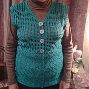 Одежда handmade. Livemaster - original item vest, crochet
