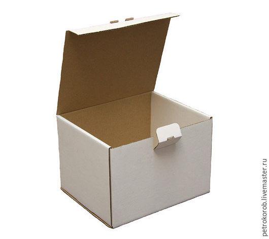 Упаковка ручной работы. Ярмарка Мастеров - ручная работа. Купить Самосборная коробка 006 (8х5х5см). Handmade. Белый, картонная коробка