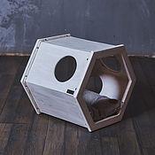 Для домашних животных, handmade. Livemaster - original item Industrial white Cabinet house. Handmade.