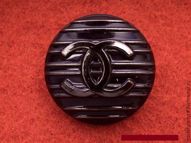 Купить Пуговицы Chanel Resort 17 39x19 мм никель